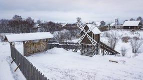 El paisaje aéreo, área de Veliky Ustyug es una ciudad en Vologda Oblast, Rusia fotos de archivo