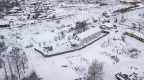 El paisaje aéreo, área de Veliky Ustyug es una ciudad en Vologda Oblast, Rusia fotografía de archivo libre de regalías