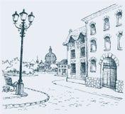 El paisaje arquitectónico Imagen de archivo