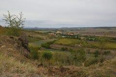 El paisaje checo nombró Chlumcany Toscana en el otoño del principio el 22 de septiembre de 2018 en la tarde fotografía de archivo