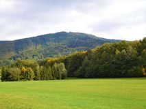 El paisaje de Beskydy Foto de archivo