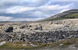 El paisaje de Burren Imagen de archivo