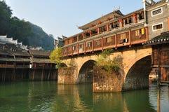 El paisaje de Fenghuang en Hunan, China Foto de archivo libre de regalías
