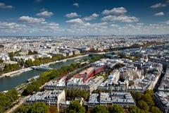 El paisaje de la ciudad de París Fotografía de archivo libre de regalías