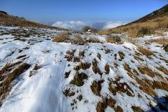 El paisaje de la nieve Fotografía de archivo