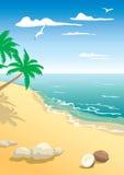 El paisaje de la playa Fotos de archivo