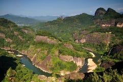 El paisaje de Wuyishan Imágenes de archivo libres de regalías