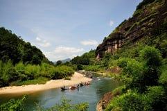 El paisaje de Wuyishan Fotos de archivo libres de regalías