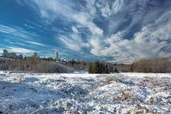 El paisaje del invierno Fotos de archivo