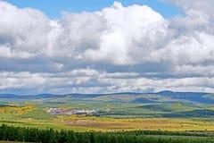 El paisaje del otoño de la pradera Fotos de archivo
