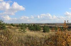 El paisaje del otoño dio Imagen de archivo