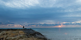 El paisaje del pescador fotos de archivo