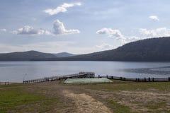 El paisaje en el lago Baikal, Federación Rusa Imagen de archivo libre de regalías