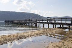 El paisaje en el lago Baikal, Federación Rusa Imagenes de archivo