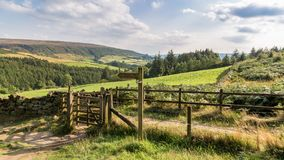 El paisaje en la York del norte amarra, Reino Unido imagen de archivo libre de regalías