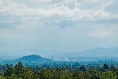 El paisaje en el parque nacional de Pha Chor, Chiang Mai, Tailandia fotos de archivo