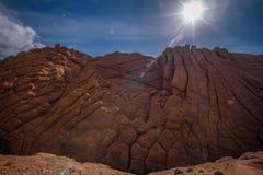El paisaje escénico en Dades Gorges, las montañas de atlas, Marruecos Fotografía de archivo