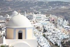 El paisaje extenso de Santorini imagen de archivo