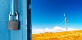 El paisaje fuera del hierro Fotografía de archivo