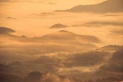 El paisaje hermoso de las montañas Imagen de archivo libre de regalías