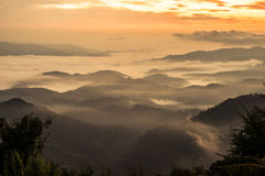 El paisaje hermoso del pis de Doi Kart en la provincia de Chiangrai, Tailandia Imagen de archivo libre de regalías