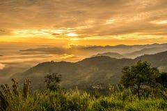 El paisaje hermoso del pis de Doi Kart en la provincia de Chiangrai, Tailandia Imágenes de archivo libres de regalías