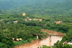 El paisaje hermoso del prabang del luang fotografía de archivo