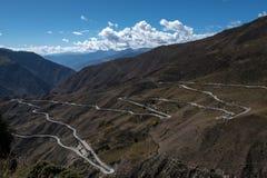 El paisaje hermoso: El viajar en Tíbet Imágenes de archivo libres de regalías