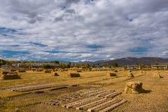 El paisaje hermoso: El viajar en Tíbet Imagenes de archivo