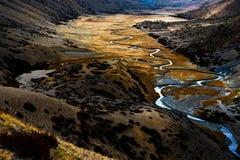 El paisaje hermoso: El viajar en Tíbet fotografía de archivo