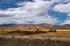 El paisaje hermoso: El viajar en Tíbet Foto de archivo