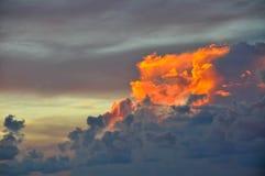 El paisaje imponente - nubes Foto de archivo