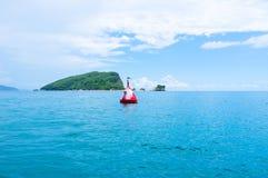 El paisaje marino con la gaviota Imágenes de archivo libres de regalías
