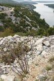 El paisaje natural del parque nacional croata KRK Fotografía de archivo libre de regalías