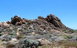 El paisaje rocoso dramático en el canal oscila Australia occidental en verano imagenes de archivo