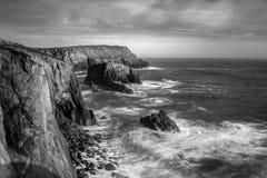 El paisaje rugoso, tierras termina, Cornualles imagen de archivo