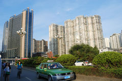 El paisaje urbano de China Fotos de archivo libres de regalías