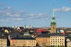 El paisaje urbano de Estocolmo Fotos de archivo libres de regalías