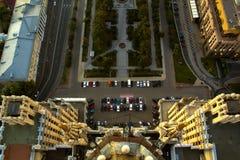 El paisaje urbano de las grandes ciudades y de las megápolises Foto de archivo libre de regalías