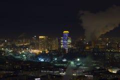 El paisaje urbano de las grandes ciudades y de sus distritos Fotografía de archivo libre de regalías