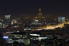 El paisaje urbano de las grandes ciudades y de sus distritos Fotografía de archivo