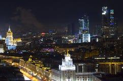 El paisaje urbano de las grandes ciudades y de sus distritos Fotos de archivo libres de regalías