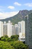 El paisaje urbano de Lok Fu en Hong Kong Foto de archivo libre de regalías