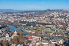 El paisaje urbano de Tbilisi Fotografía de archivo