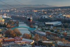El paisaje urbano de Tbilisi, Georgia Imagen de archivo libre de regalías