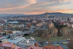 El paisaje urbano de Tbilisi, Georgia foto de archivo libre de regalías