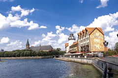 El paisaje urbano en Kaliningrado Imágenes de archivo libres de regalías