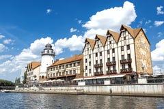 El paisaje urbano en Kaliningrado Fotografía de archivo
