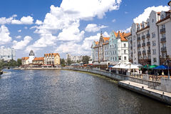 El paisaje urbano en Kaliningrado Imagen de archivo