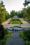 El paisaje verde del jardín Foto de archivo libre de regalías